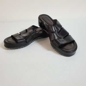 Cole Haan Black Open Toe Leather Sandals Sz 7 1/2B